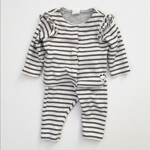H&M Baby Striped Top & Legging Set Size 2-4 Months